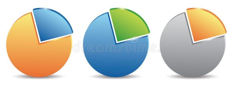 charts pien stock illustrationer