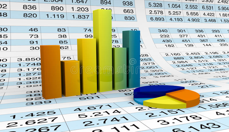 charts räkneark stock illustrationer