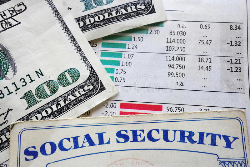 Charts and social security stock photos