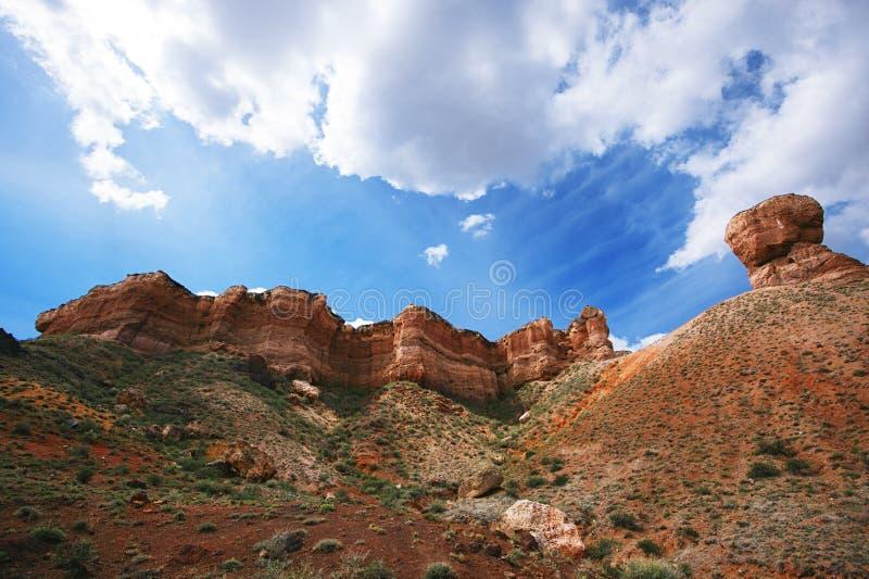 Charyn大峡谷在卡扎克斯坦 免版税库存照片