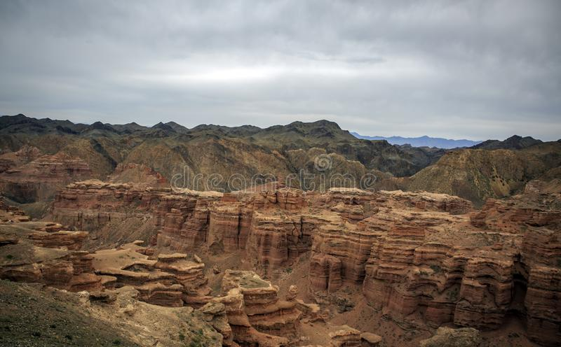 Charyn Canyon. royalty free stock images