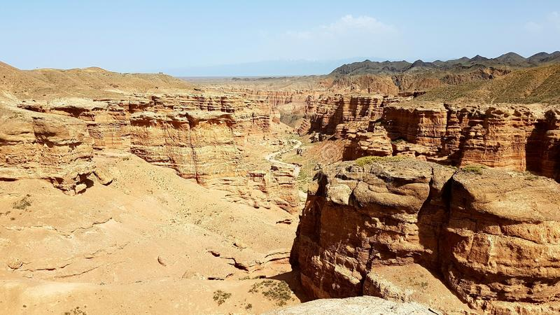 Charyn Canyon in Kasachstan royalty free stock photos