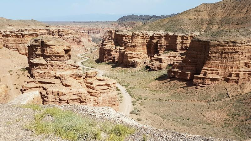 Charyn Canyon in Kasachstan royalty free stock photo