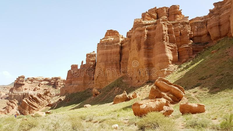 Charyn Canyon in Kasachstan royalty free stock photography