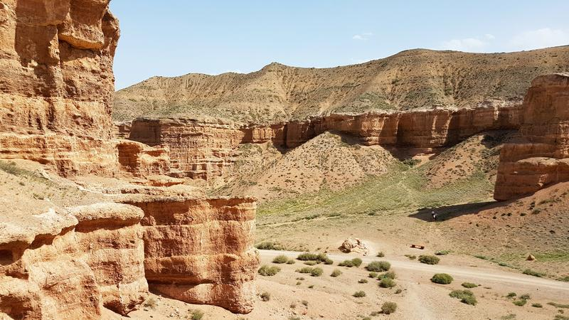 Charyn Canyon in Kasachstan royalty free stock image