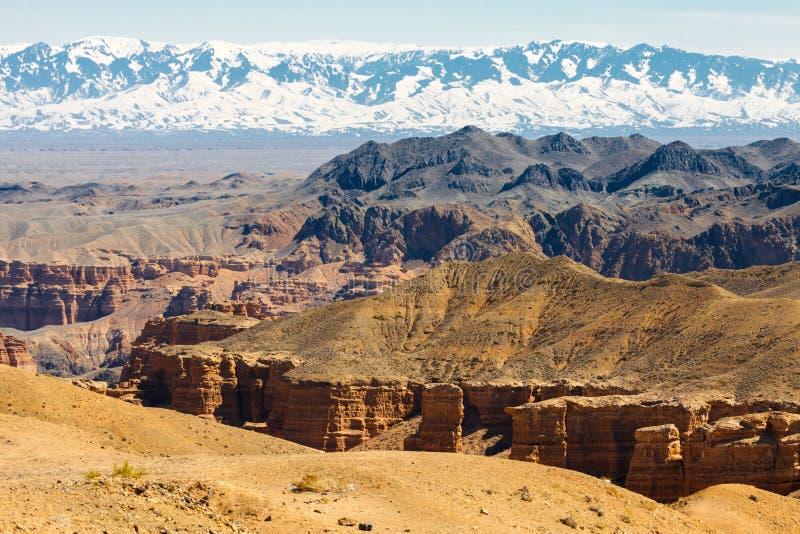 Charyn kanjon arkivfoto