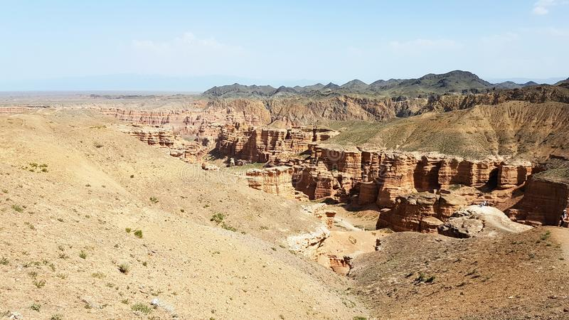 Charyn kanjon i Kasachstan arkivfoton