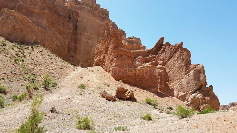 Charyn kanjon i Kasachstan arkivbild