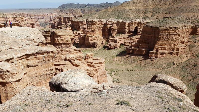 Charyn kanjon i kazakstan arkivbild