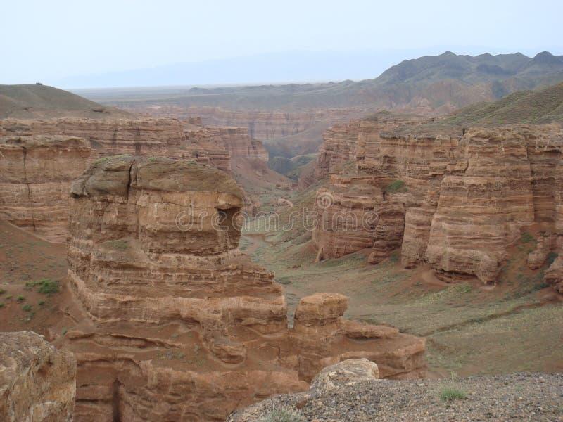 Charyn kanjoner i Kasakhstan royaltyfri bild