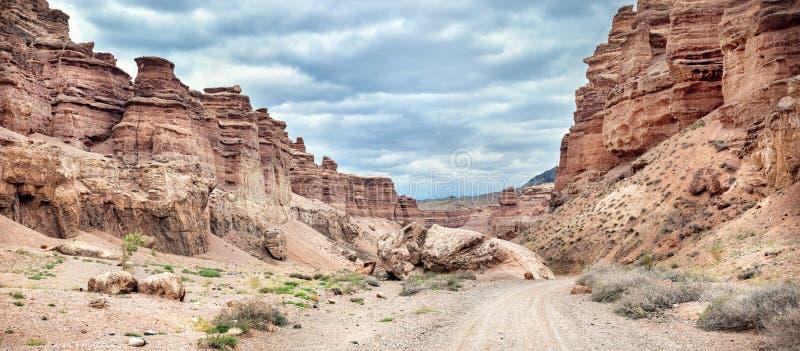charyn kazakhstan каньона стоковая фотография