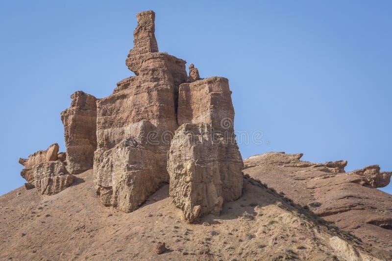 Charyn-Schlucht und das Tal von Schlössern, Nationalpark, Kazakhst lizenzfreie stockfotografie