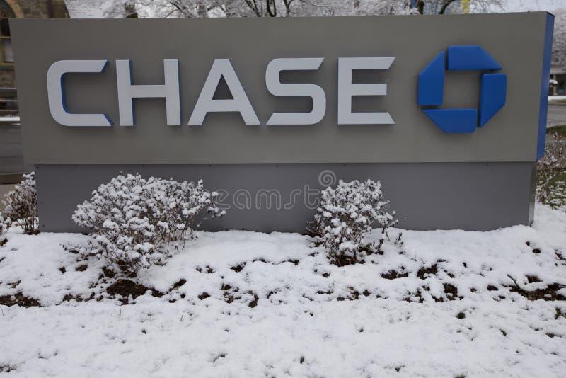 Chase Bank i Stamford, Stamford, USA arkivfoton