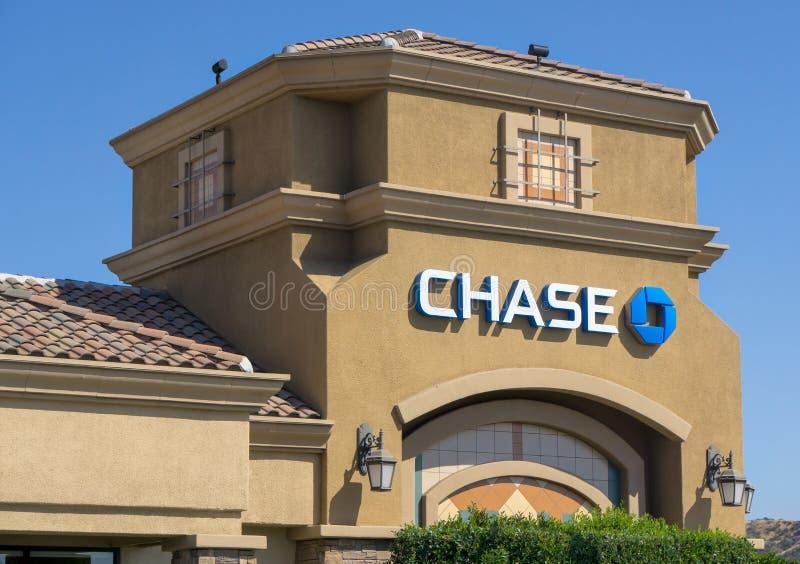 Chase Bank powierzchowność obrazy stock