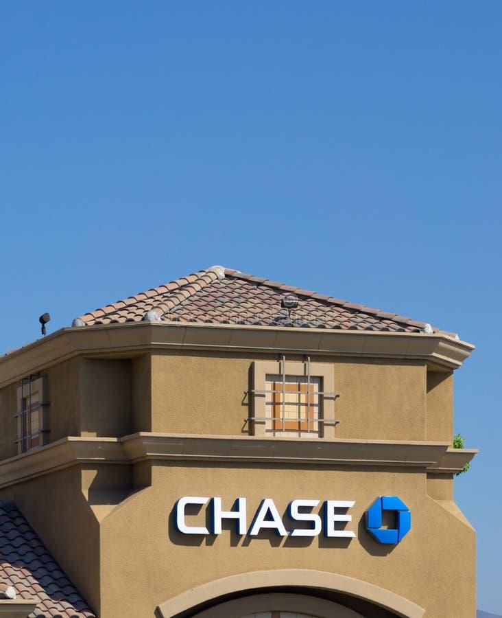 Chase Bank powierzchowność zdjęcia stock