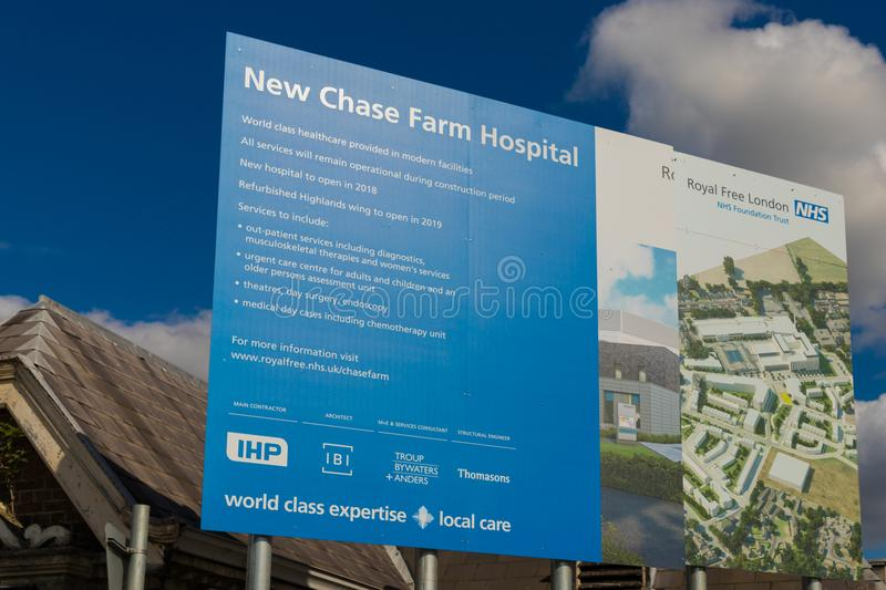Chase farm hospital in Enfield london royalty free stock photo