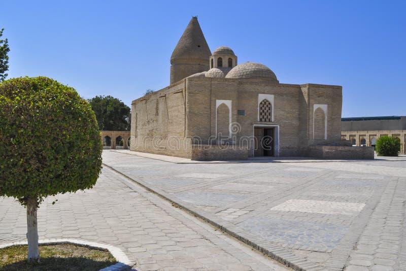 Chashma-Ayub mauzoleum lokalizuje w dziejowej części Bukhara zdjęcia royalty free