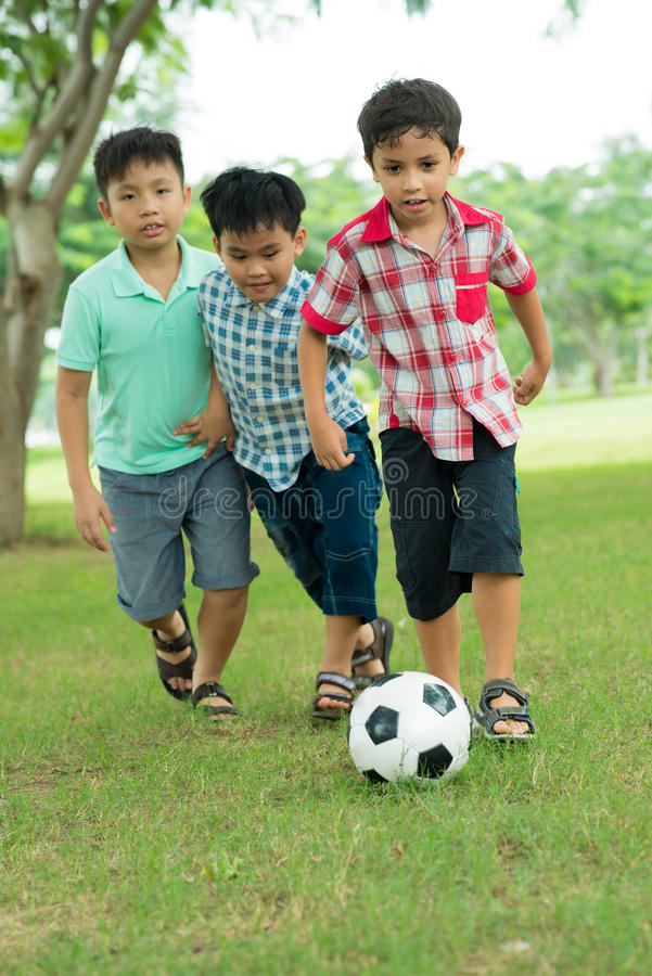 Download Chasing The Ball Royalty Free Stock Photos - Image: 32962938