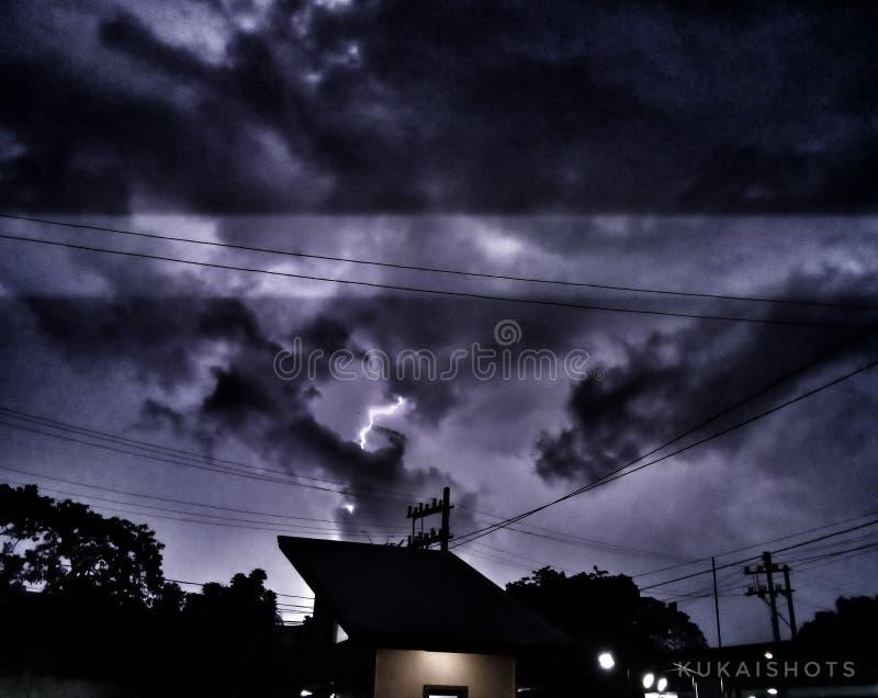 Chasing lightning stock photos