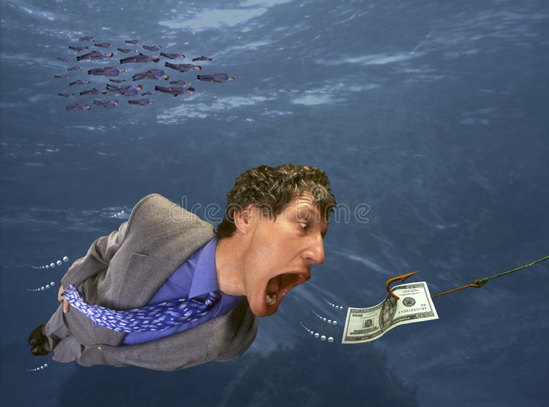 Chasing Money stock image