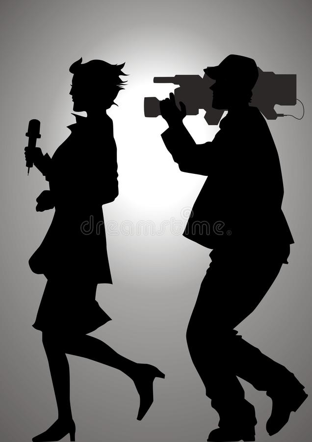 Chasing The News vector illustration