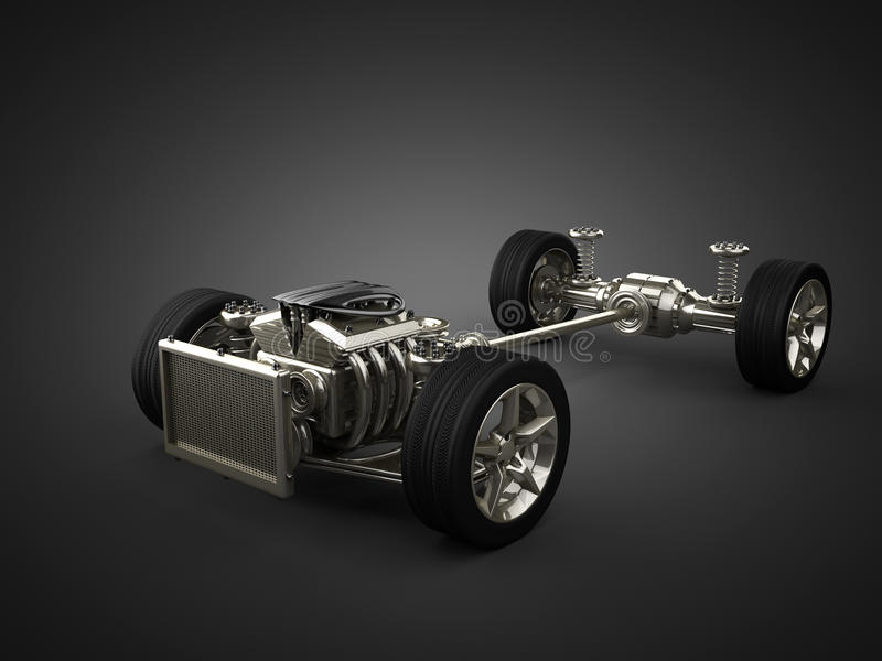 Chasis del coche con el motor libre illustration