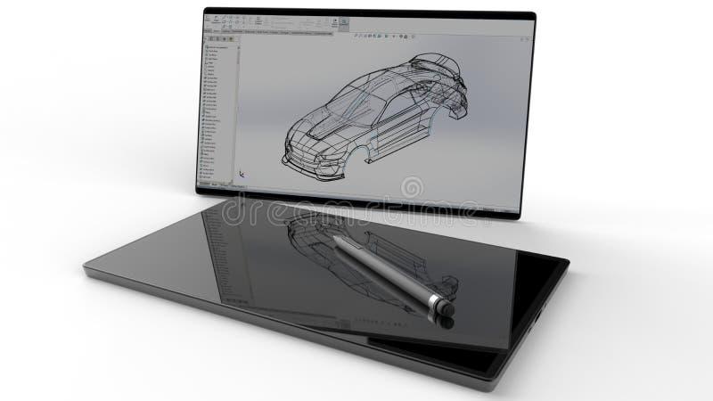 Chasis del coche del diseño automatizado stock de ilustración