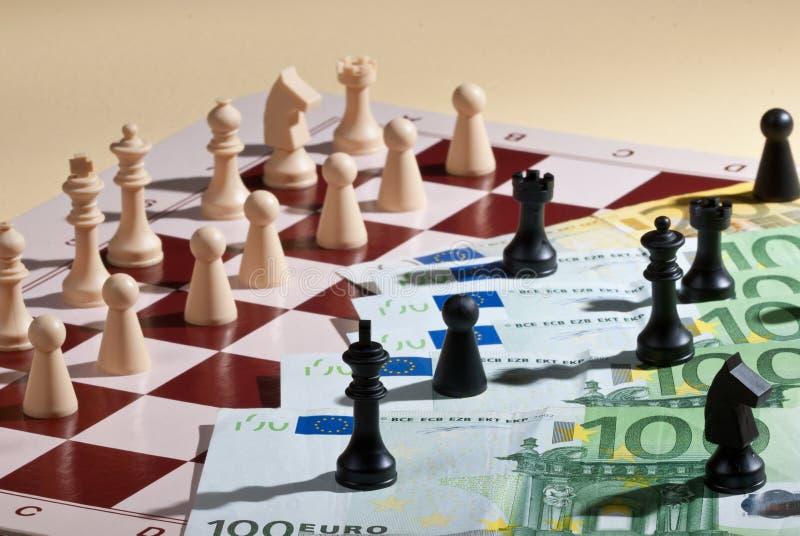 Chassboard et euro images libres de droits