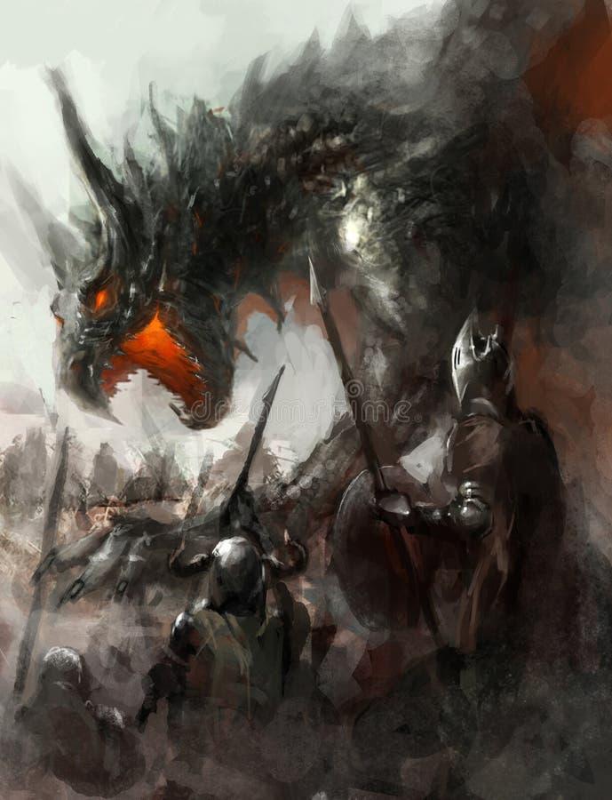 Chasse à dragon illustration libre de droits