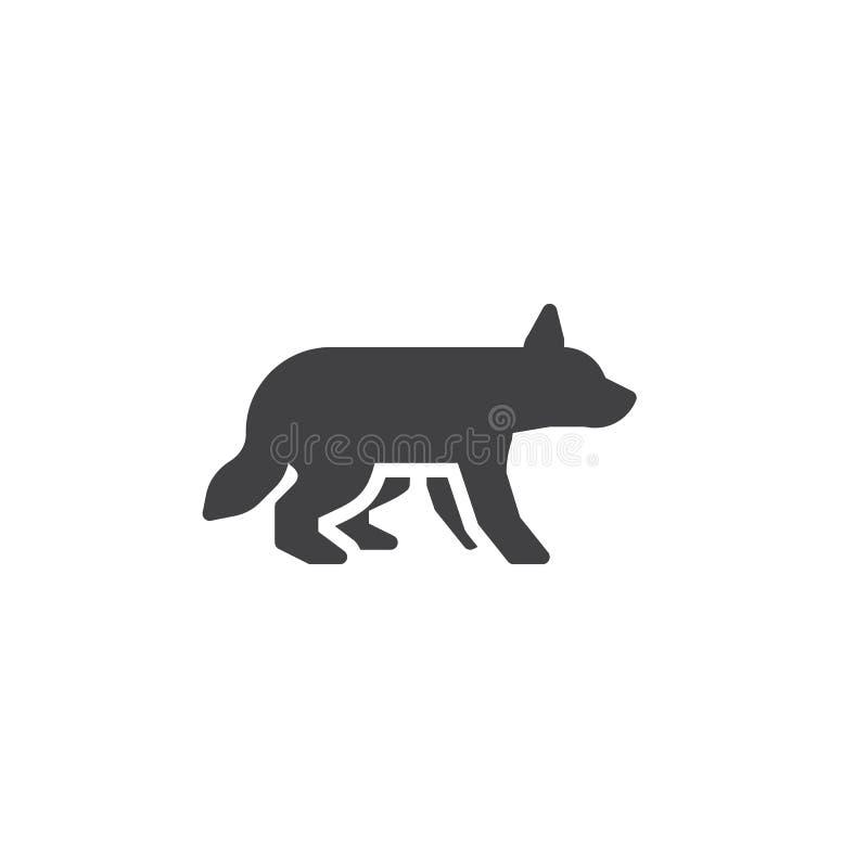 Chasse de l'icône de vecteur de loup illustration libre de droits