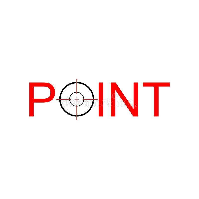 Chasse de la cible Logo Icon Design Element, logo de point illustration stock