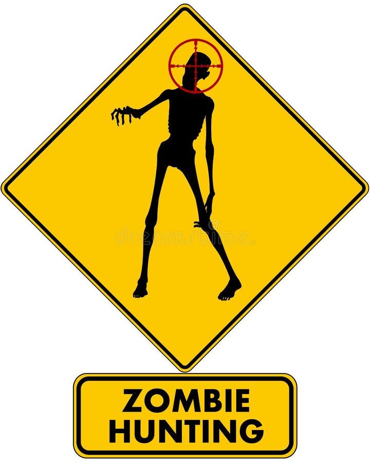 Chasse de zombi illustration stock
