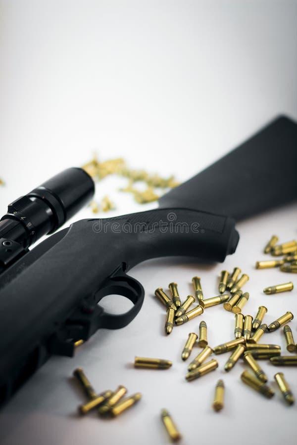 Chasse du fusil avec des remboursements in fine photo stock
