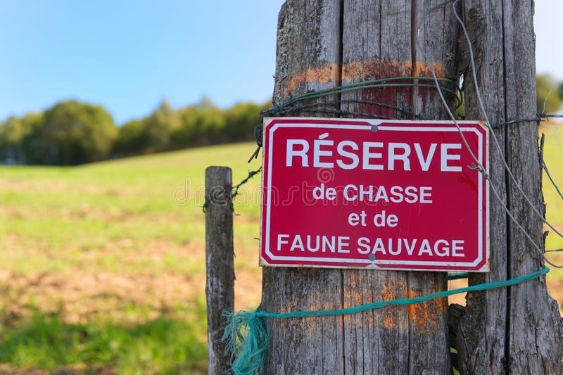 Chasse en France photo stock