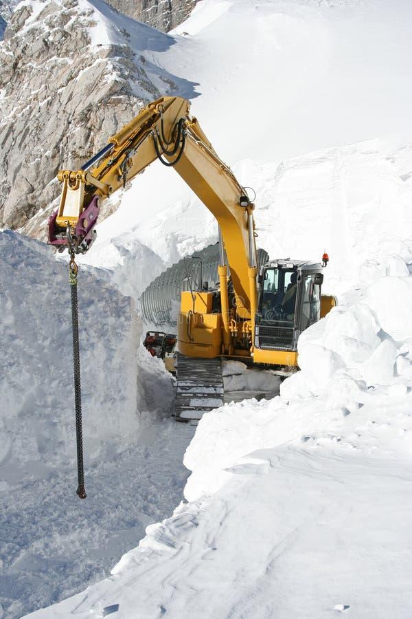 Chasse-neige image libre de droits