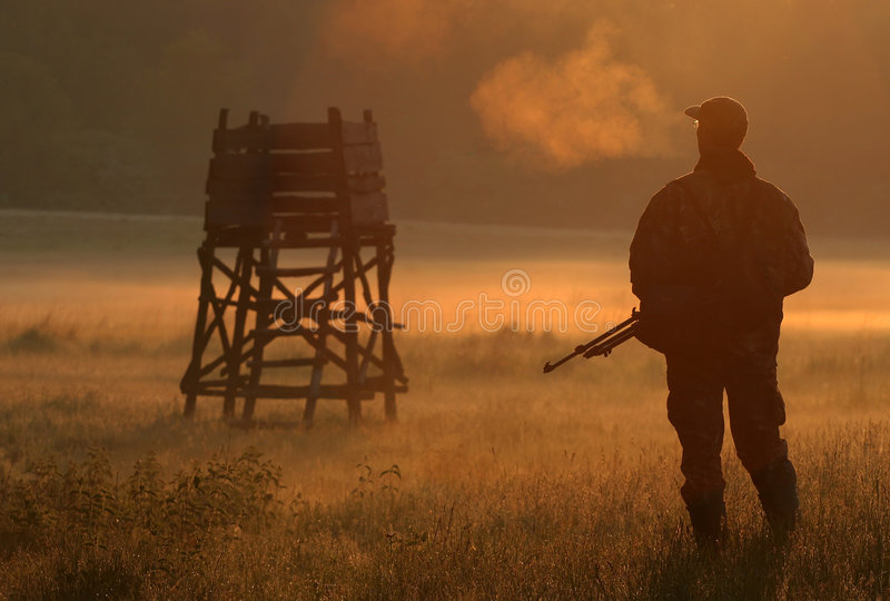 Chasseur photographie stock