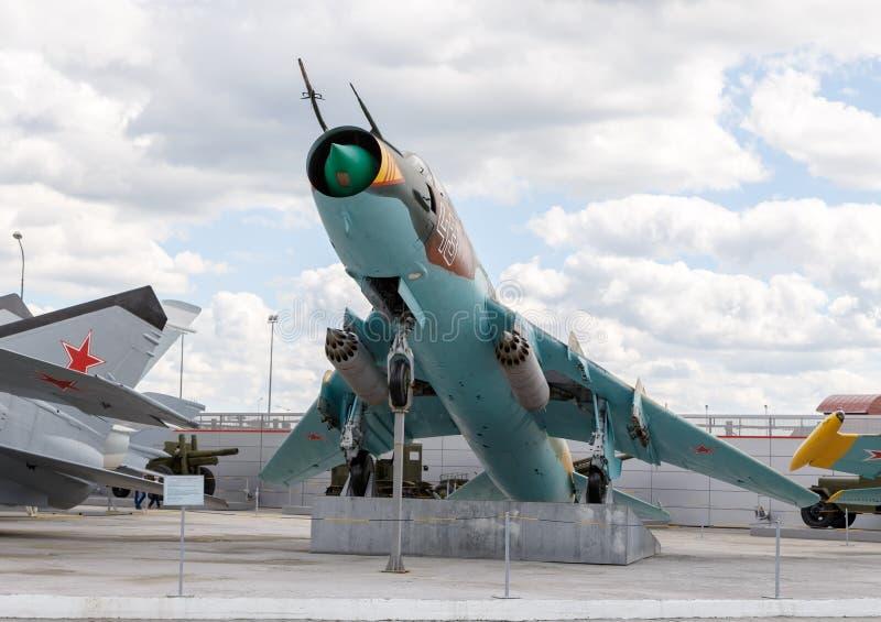 Chasseur-bombardier Su-17 Pyshma, Ekaterinburg, Russie - 16 août, images stock