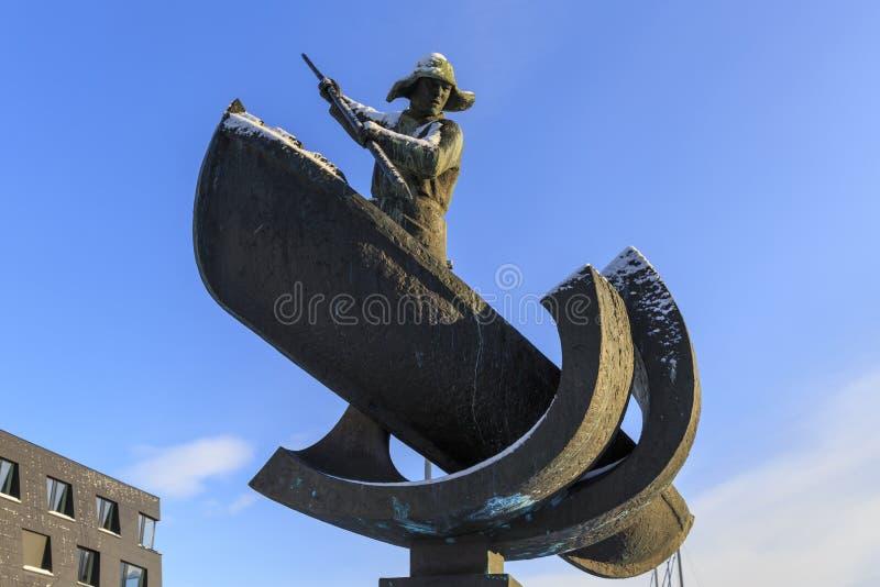 chasseur d'Arctique de Baleinier-statue photographie stock