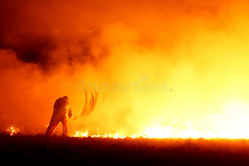 Chasseur d'incendie image stock