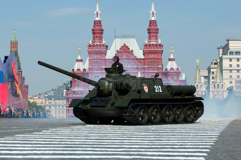 Chasseur de chars soviétique légendaire SU-100 photo stock