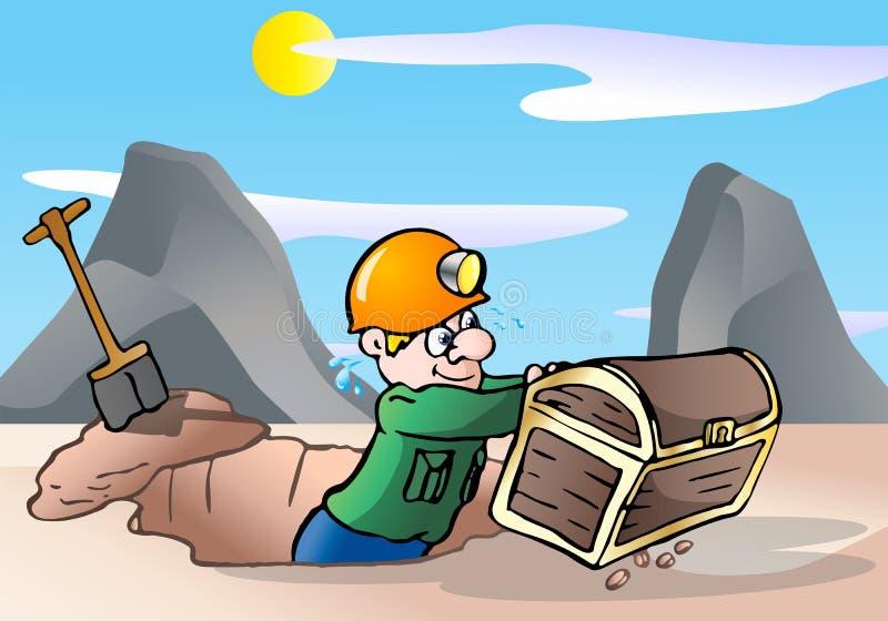Chasseur de trésor illustration stock
