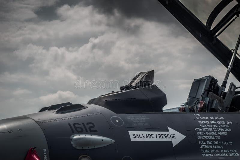 Chasseur F-16 Jet Open Cockpit photo libre de droits