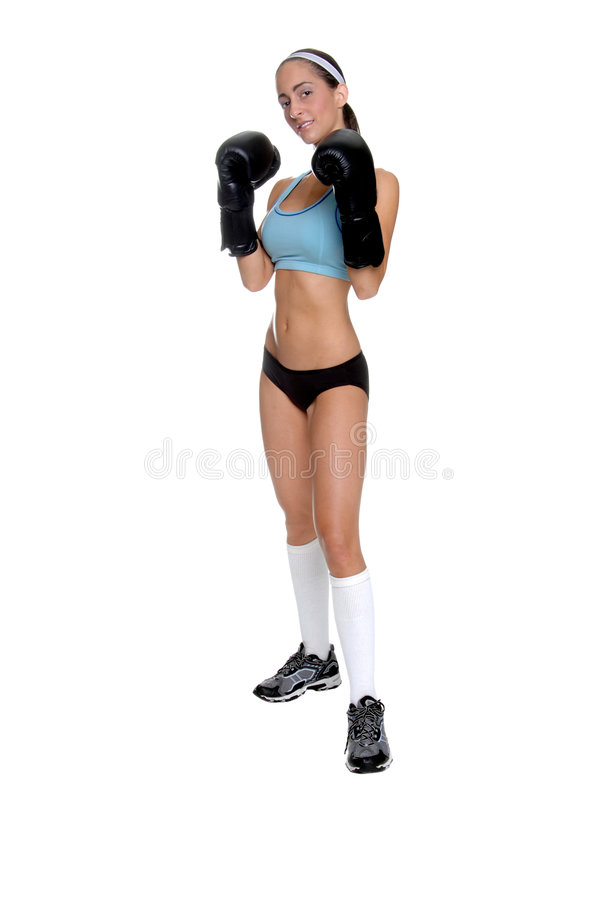 Chasseur femelle de MMA photo libre de droits