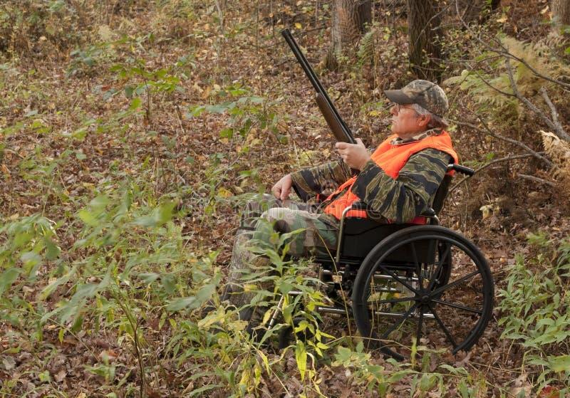 Chasseur handicapé image stock