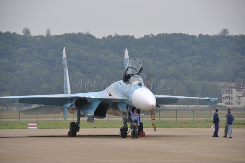 Chasseur Su-27 image stock