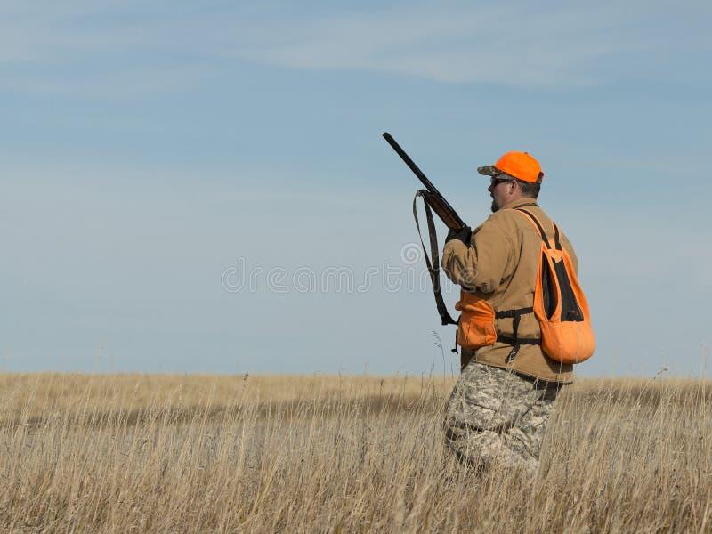 Chasseur sur la prairie photos libres de droits