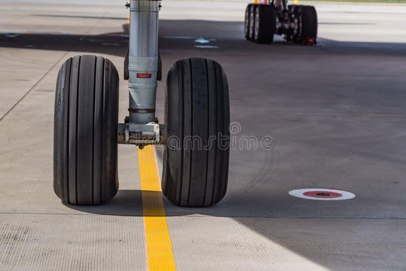 Chassi av det Boeing 777 slutet arkivfoton