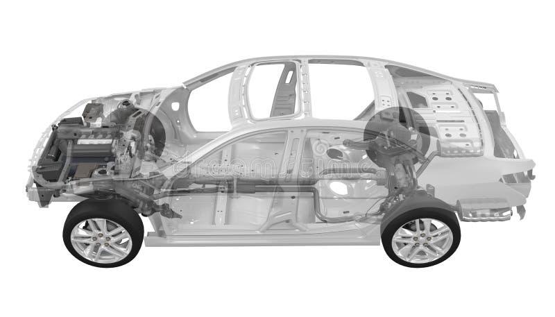 Chassi do carro com motor imagens de stock royalty free