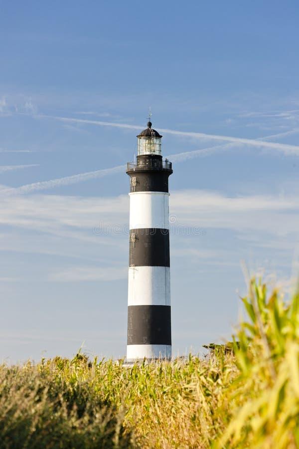 Chassiron Lighthouse stock photo