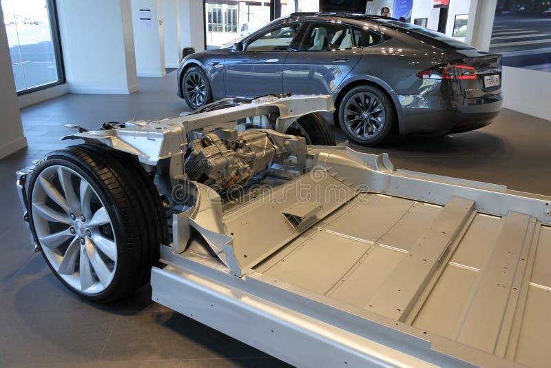 Chassis van de Tesla de insteek elektrische auto voor Tesla Modelx royalty-vrije stock afbeeldingen